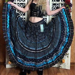 70s Anna Konya GYPSY Rainbow space star skirt FuLL